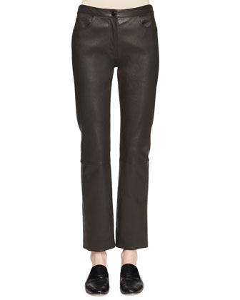 Landly Stretch Lambskin Pants