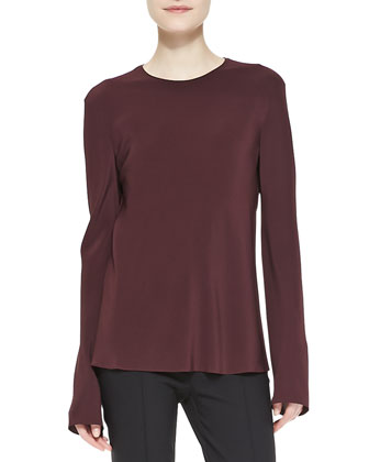 Guri Long-Sleeve Crepe Top