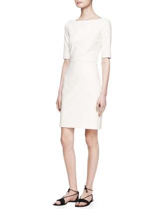 Devery Elbow-Sleeve Scuba Dress