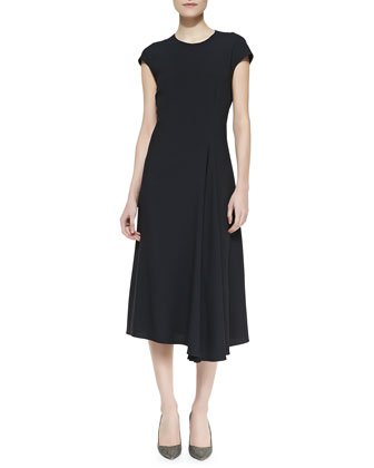 Koto Cap-Sleeve Crepe Dress