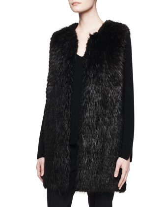 Lasfer Long Fur Vest