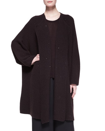 Long Jacket Coat Cardigan, Port