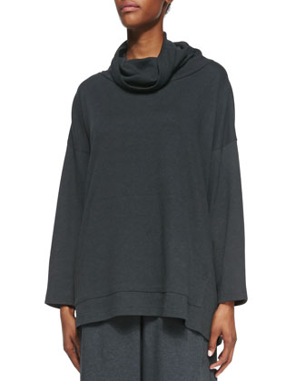 Pima Cotton Monk's Top, Charcoal