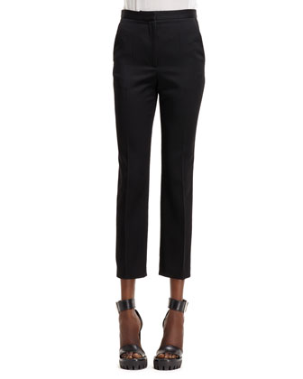 High-Waist Slit Back Pant