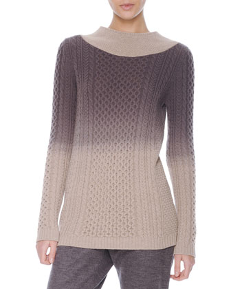 Degrade Cable-Knit Sweater