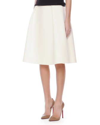 Crepe Inverted-Pleat Full Skirt