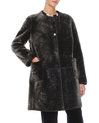 Reversible Shearling Fur/Leather Coat