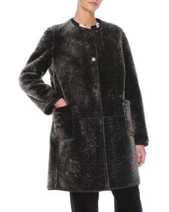 Reversible Shearling Fur/Leather Coat