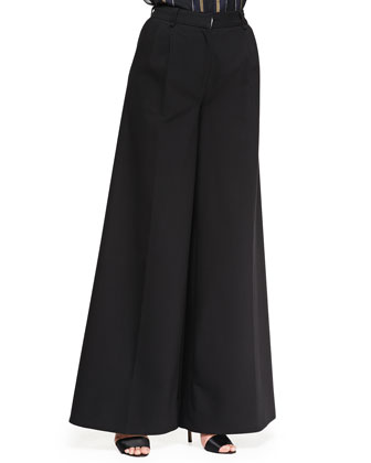 Wide-Leg Gaucho Trousers