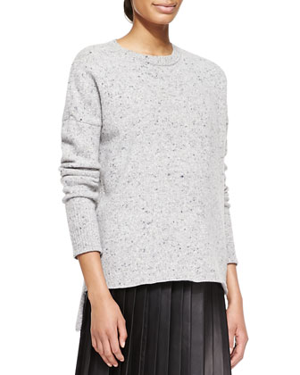 Boxy Melange Crew Sweater