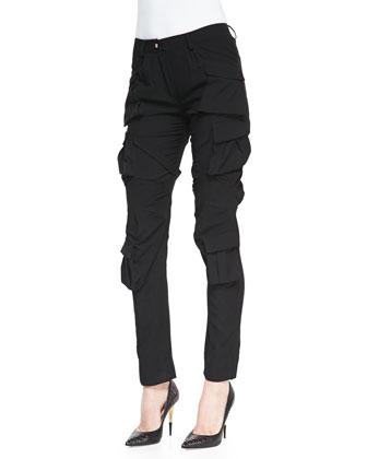 Modern Slim Crepe Cargo Pants