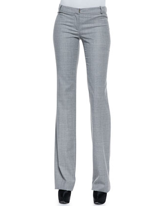 Slim Lightweight Wool Pants, Gray