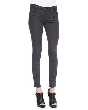 Skinny Twill Moto Jeans