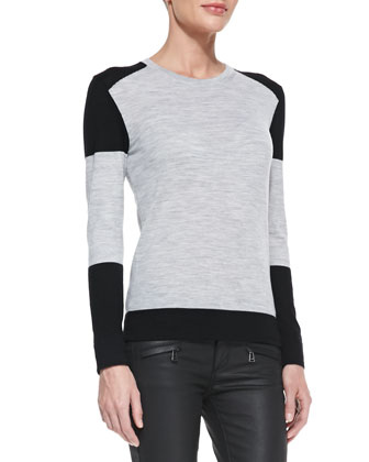 Colorblock Racing Stripe Sweater