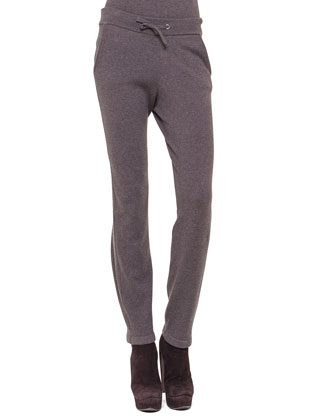 Drawstring Cashmere Jogging Pants