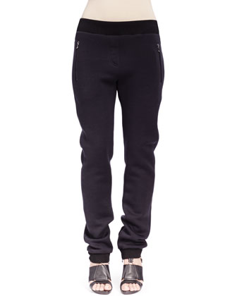 Jersey Zip-Pocket Jogging Pants