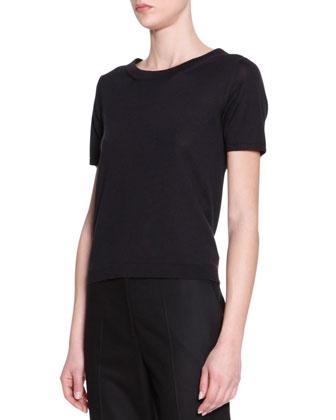 Short-Sleeve Knit Tee