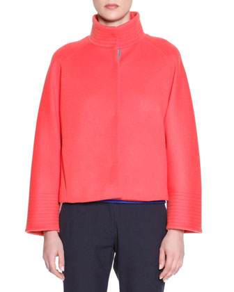 Snap-Front Boxy Jacket