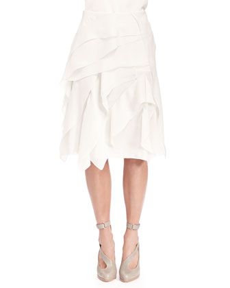 Georgette Tiered Ruffle Skirt