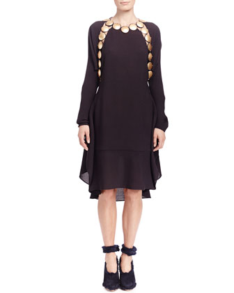 Long-Sleeve Medallion Dress