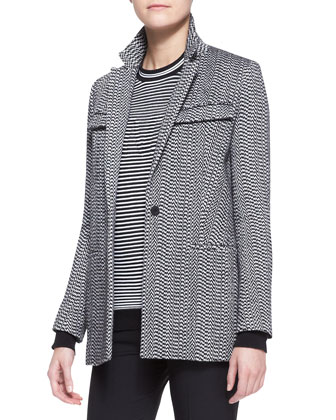 White Noise Oversized Blazer