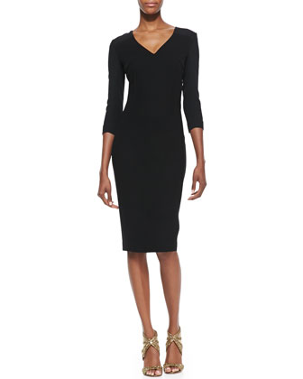 Sharatan V-Neck Sheath Dress