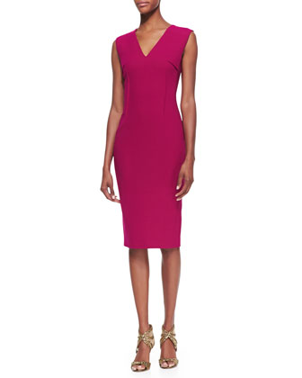 Wezen Sleeveless Sheath Dress, Cranberry