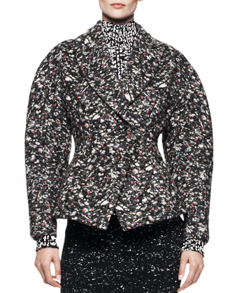 Sculptural Jacquard Topper Jacket