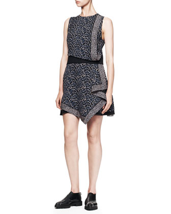 Sleeveless Printed Georgette Dress