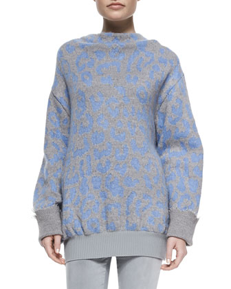 Mist Animal-Print Sweater