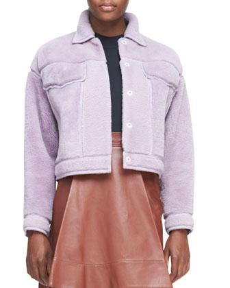 Shearling Fur Jean-Style Jacket