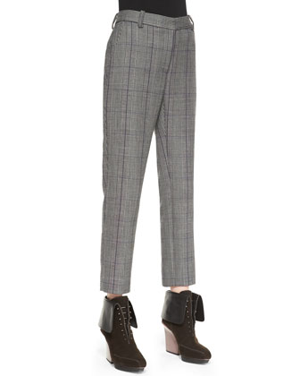Prince of Wales Check Pencil Pants