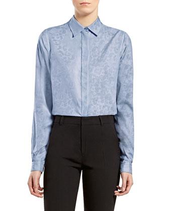 Leopard-Print Straight Shirt