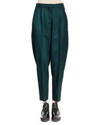 Relaxed Melange Wool Pants