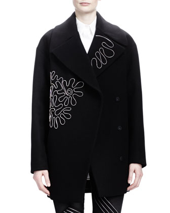 Zipper-Squiggle Coat, Black