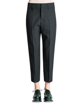 Relaxed-Fit Tech Gabardine Pants, Black