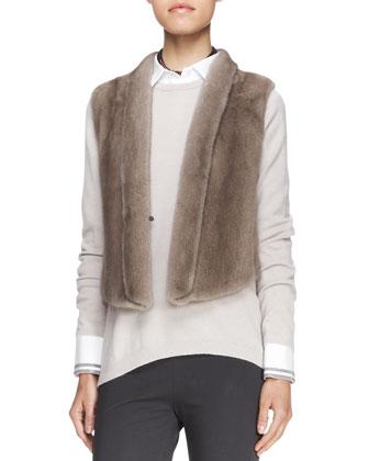 Tulip-Back Mink Fur Vest