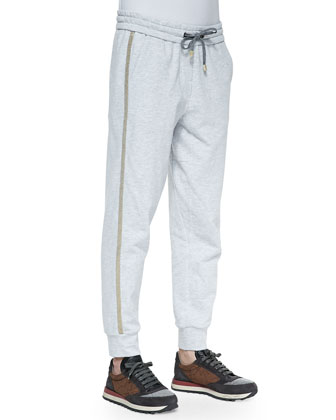 Drawstring Monili-Trim Spa Pants
