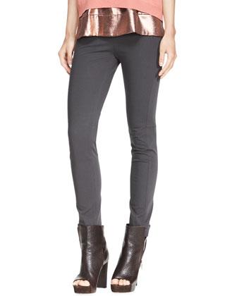 Stretch Cotton Side-Zip Jodhpur Leggings