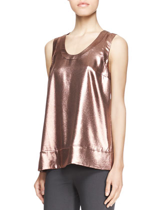 Sleeveless Metallic T-Shirt