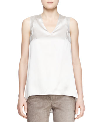 Silk Charmeuse Tank Top