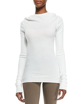 Heavy Jersey Drape-Neck Top
