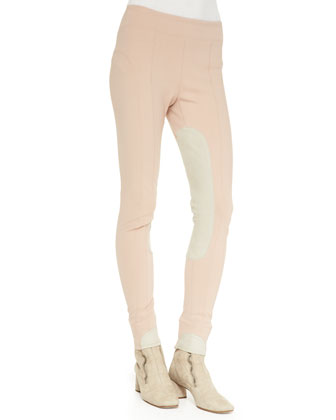 Colorblock Suede-Inseam Leggings
