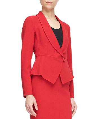 Single-Button Peplum Blazer
