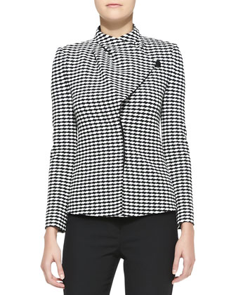 Jacquard Asymmetric-Front Jacket