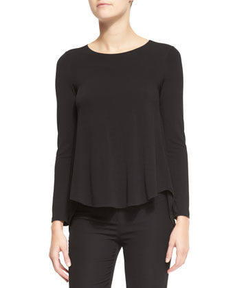 Long-Sleeve High-Low Top