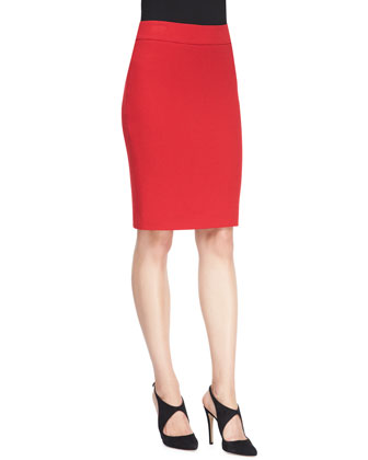 Classic Crepe Pencil Skirt