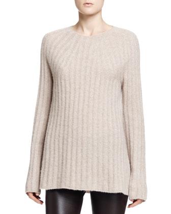 Ede Cashmere/Silk Sweater, Desert Beige