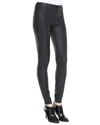 Abbey Stretch Leather Skinny Pants
