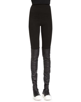 Merino Wool Leggings, Black